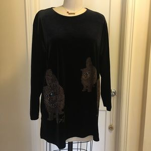Black Velvet Cat Shirt